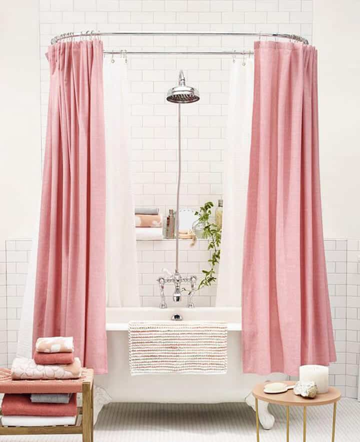 Pink And White Bathroom: Home Decor, Interior Design
