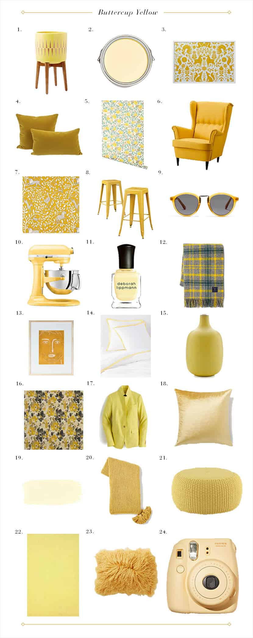 Buttercup Yellow Round Up