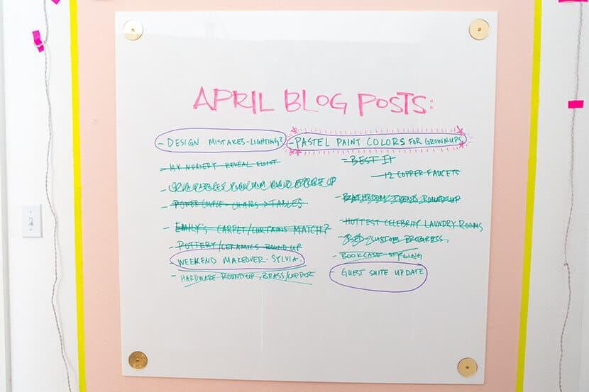 Emily Henderson Blog Brainstorm