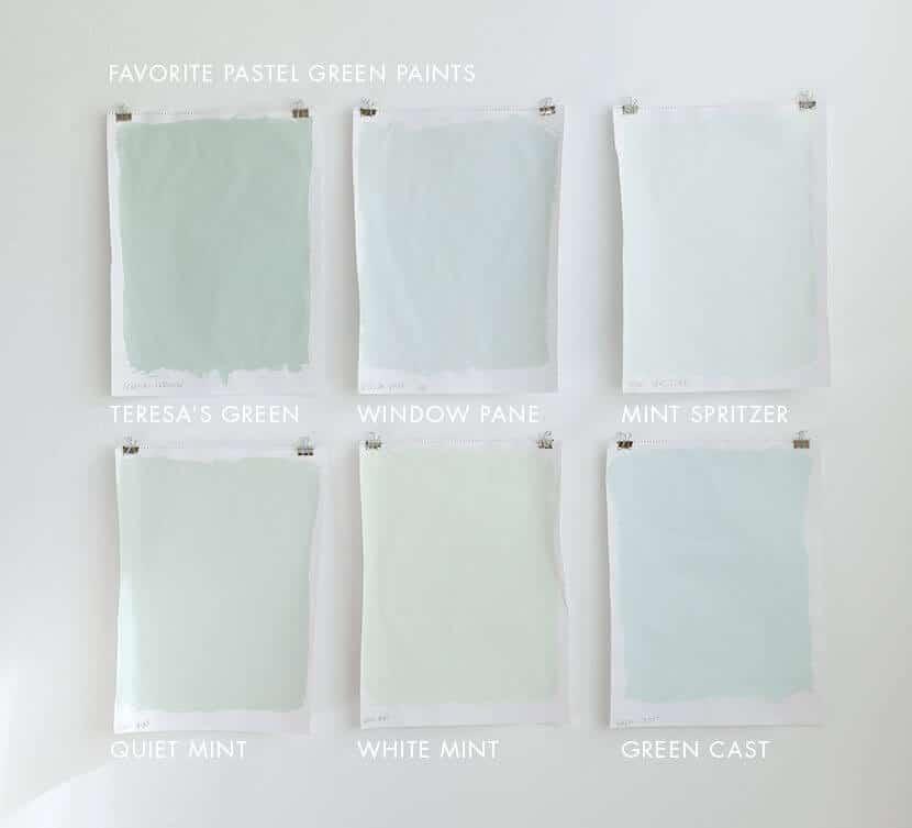 Favoirte Pastel Green Paints