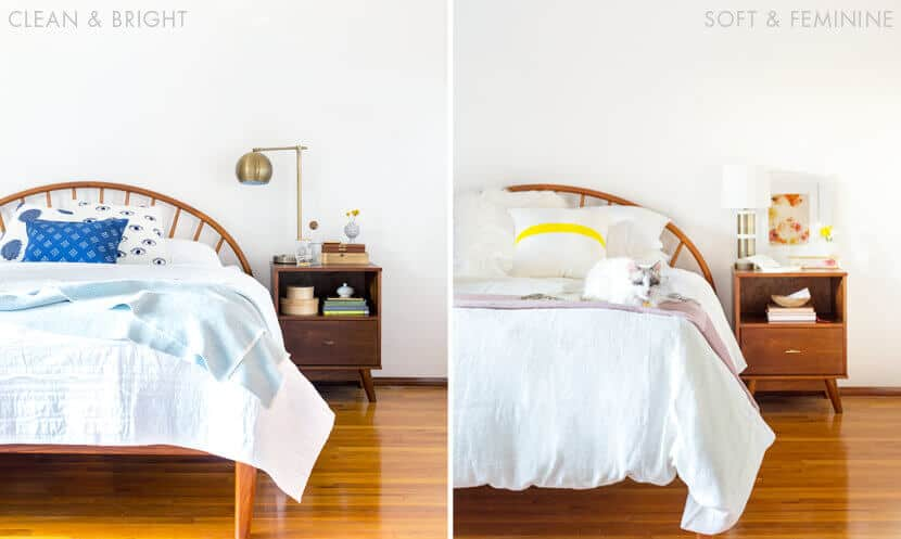 Sara Makeover Bed Styling Emily Henderson