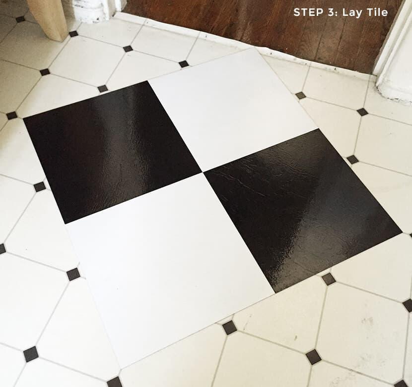 Step 3 Lay Tile