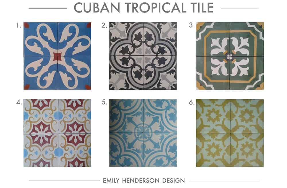 Cement Tile RoundUp Cuban Tropical Tile Patterned Tiles Emily Henderson