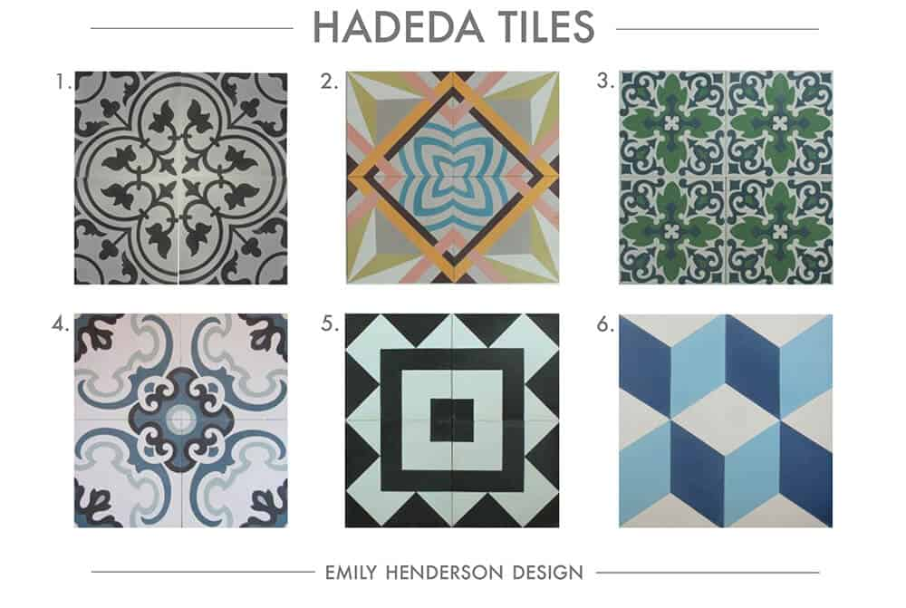Cement Tile RoundUp Hadeda Tiles Patterned Tiles Emily Henderson