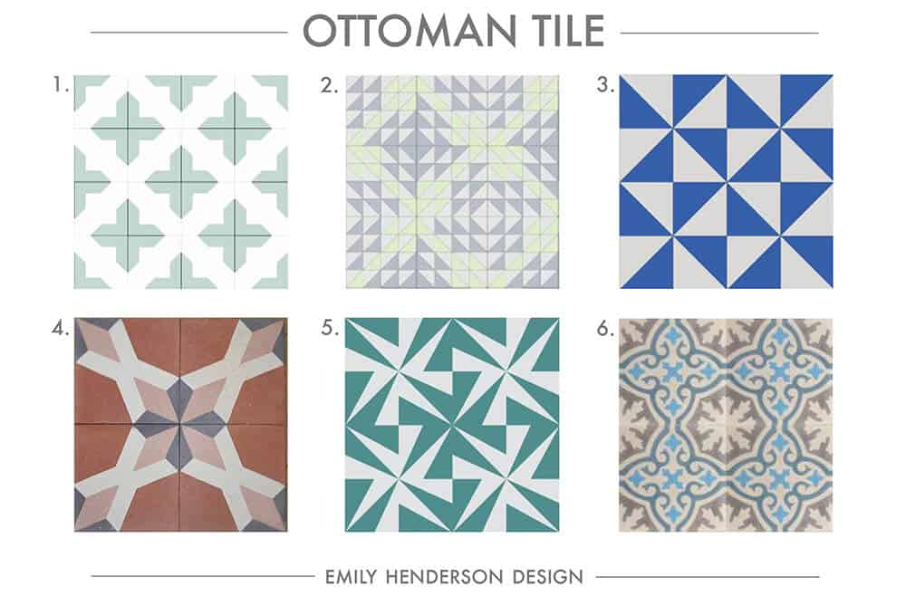 Cement Tile RoundUp Ottoman Tile Patterned Tiles Emily Henderson