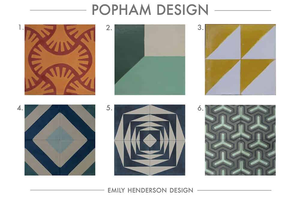 Cement Tile RoundUp Popham Design Patterned Tiles Emily Henderson