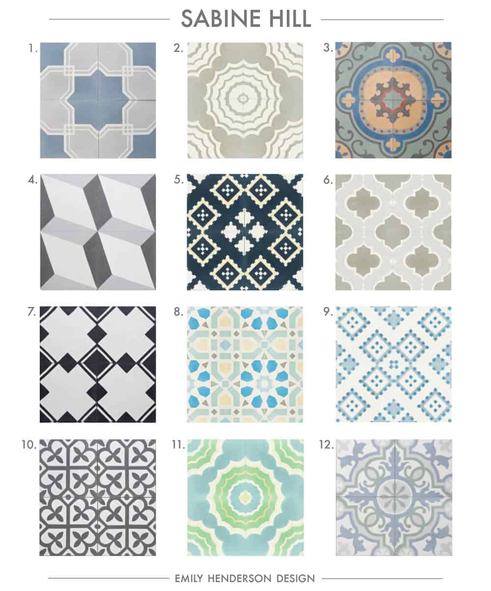 Cement Tile RoundUp Sabine Hill Patterned Tiles Emily Henderson