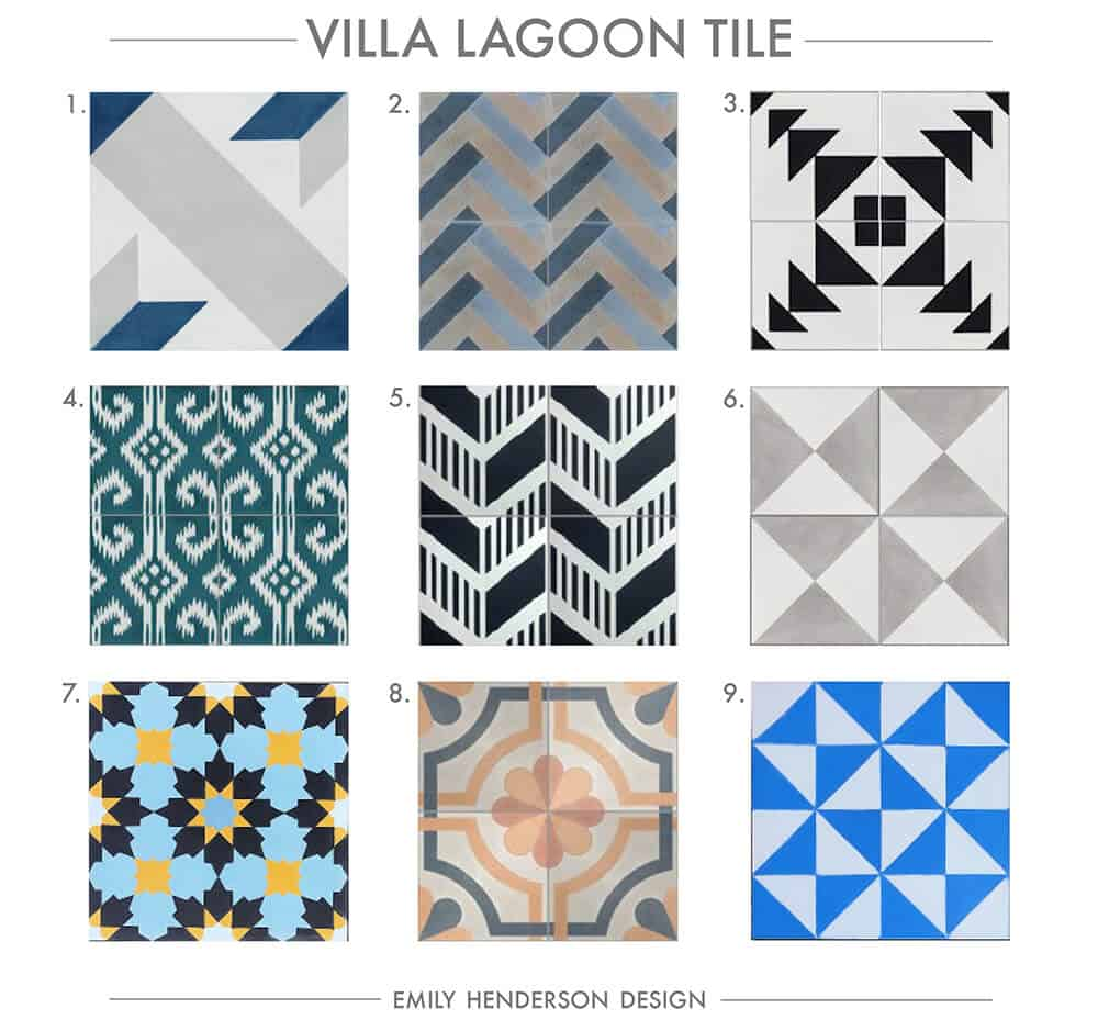 Cement Tile RoundUp Villa Lagoon Tile Patterned Tiles Emily Henderson