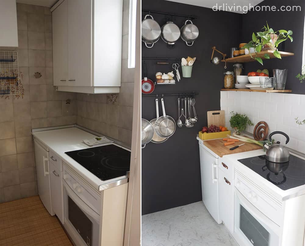 DIY Kitchen Makeover Before and After Dr Livinghome Emily Henderson