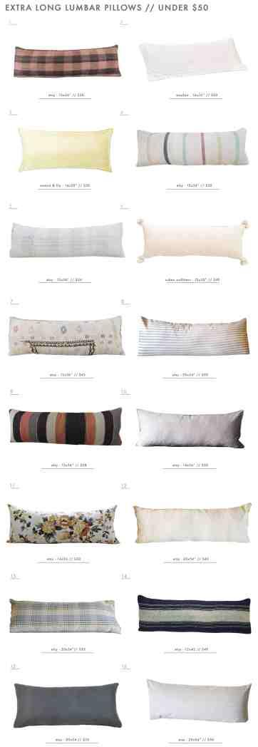 Our Extra Long Lumbar Pillow Roundup Emily Henderson