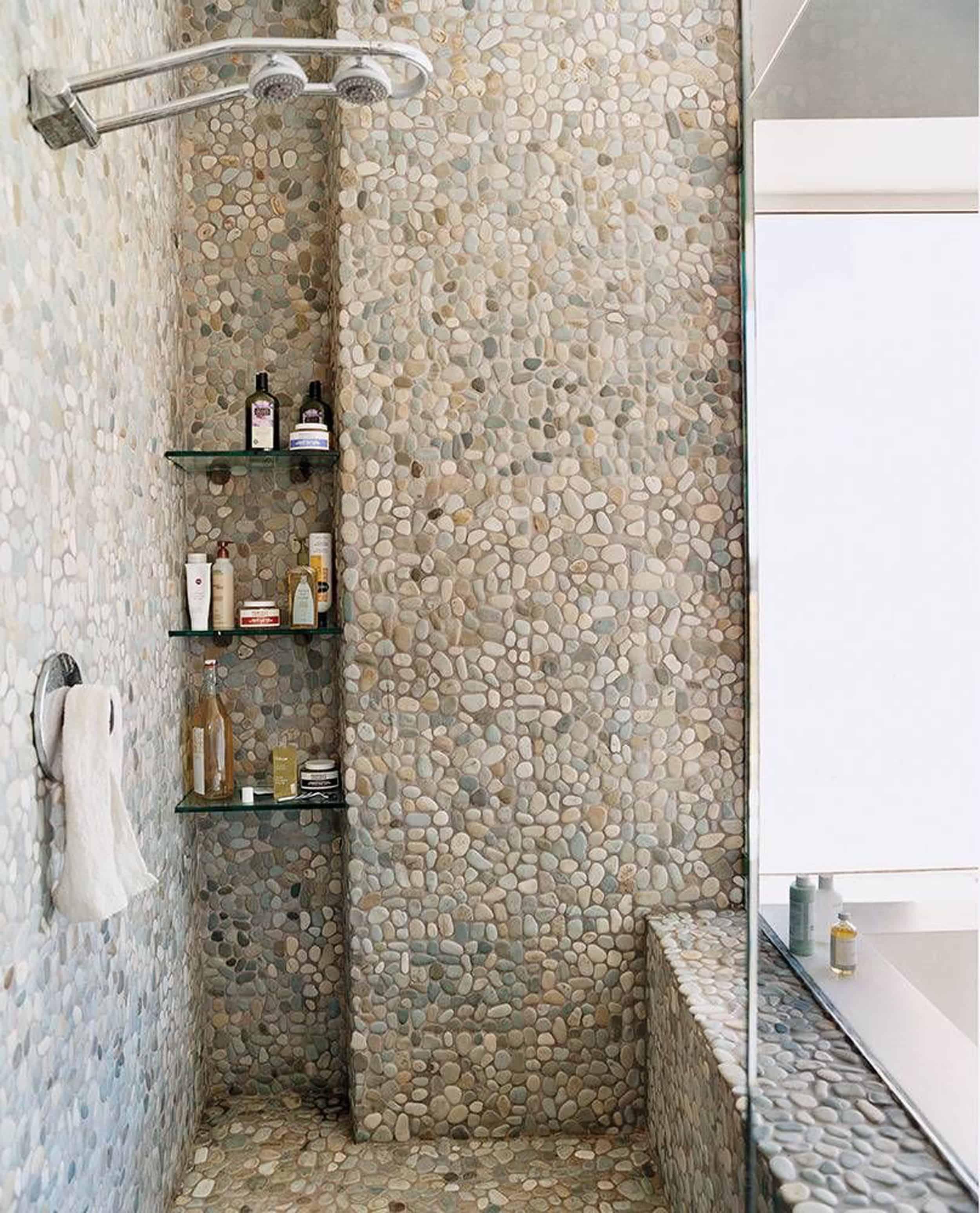 I Design You Decide Pebble Tile For The Mountain Fixer Upper Emily Henderson