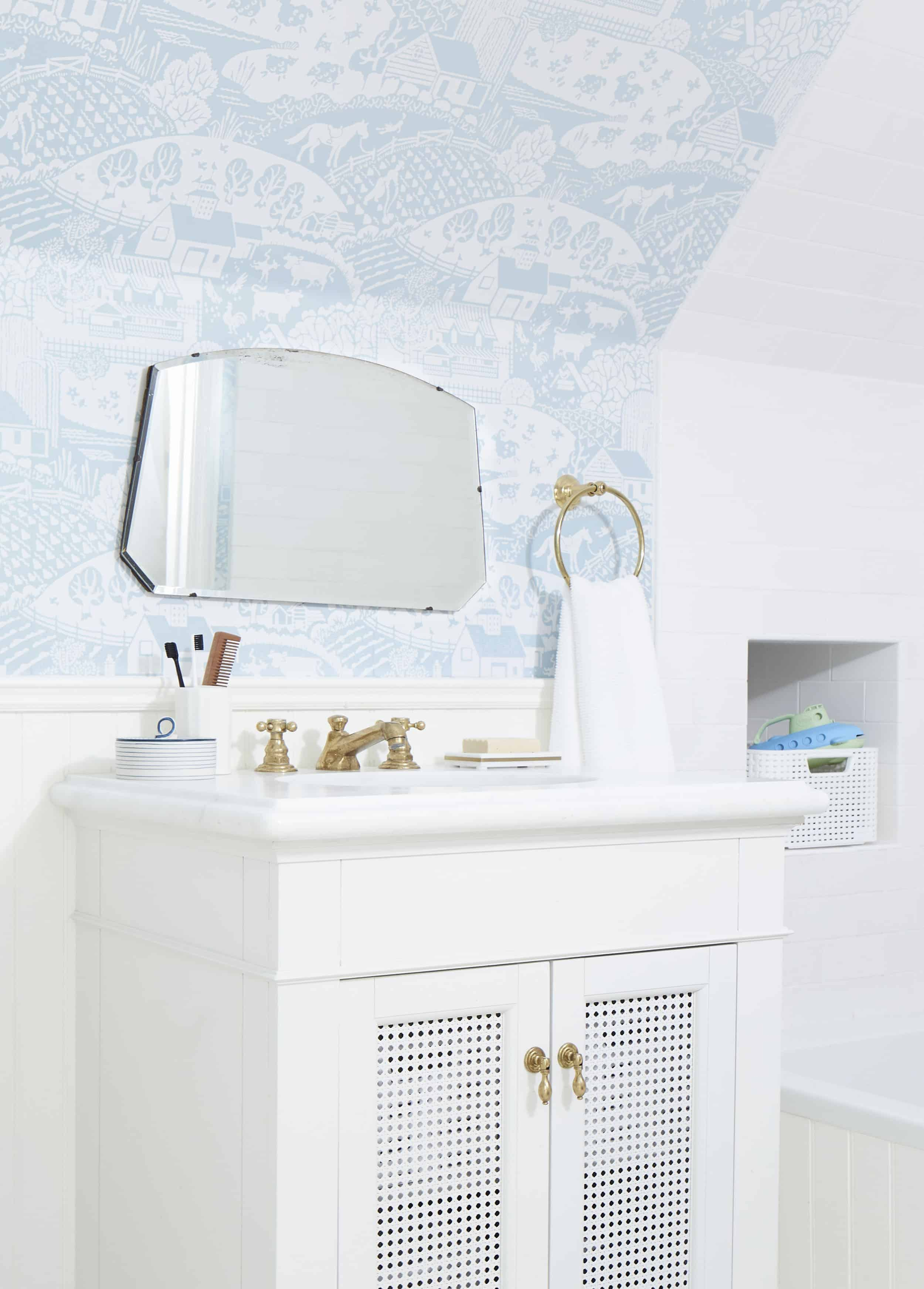 Our Kid S Jack And Jill Bathroom Reveal Shop The Look Emily Henderson