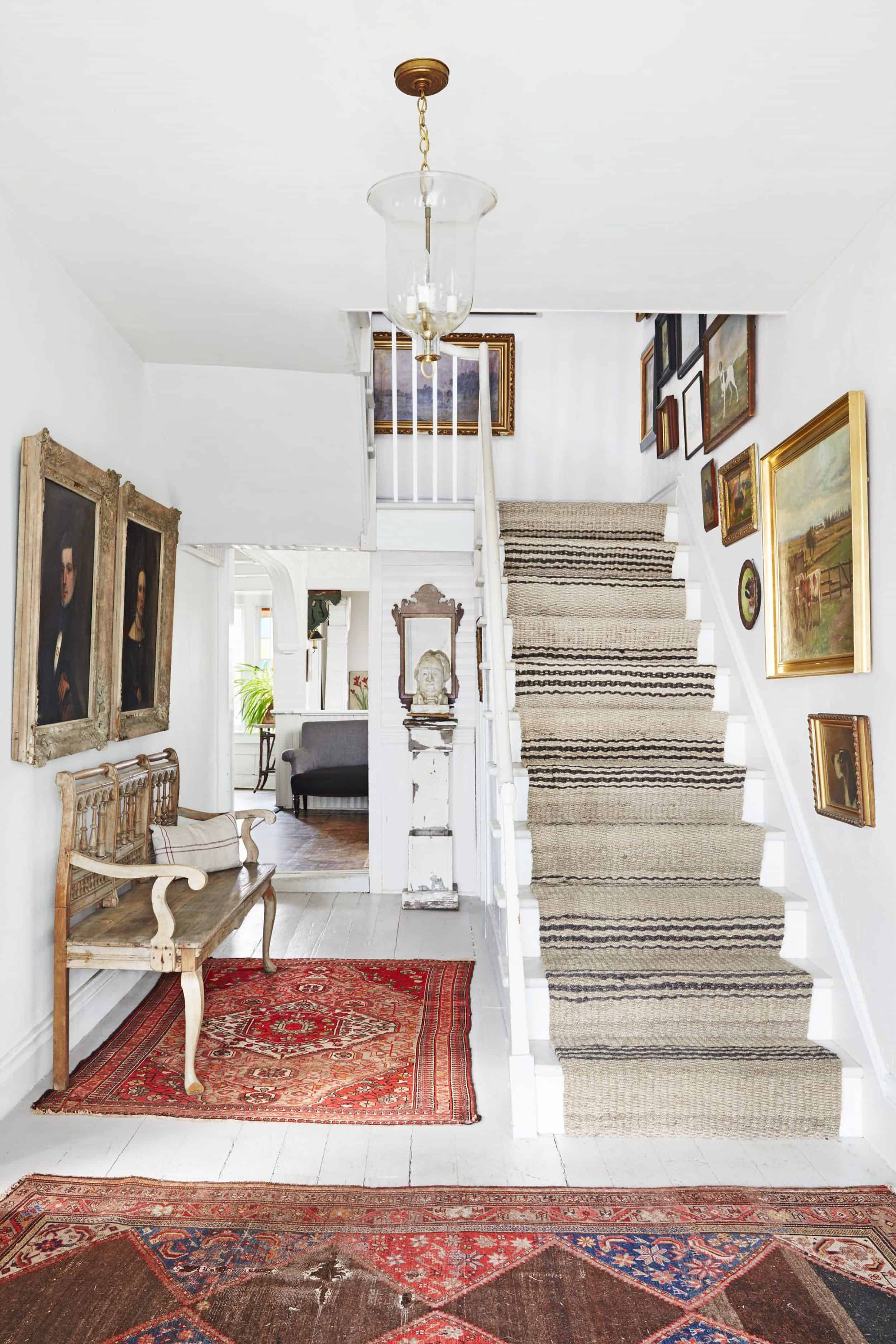 Should I Add A Carpet Or Rug Runner To My Mountain House Staircase   Flor Carpet Tiles For Stairs   Diy Stair   Carpet Runners   Patterned Carpet   Area Rugs   Floor Tiles