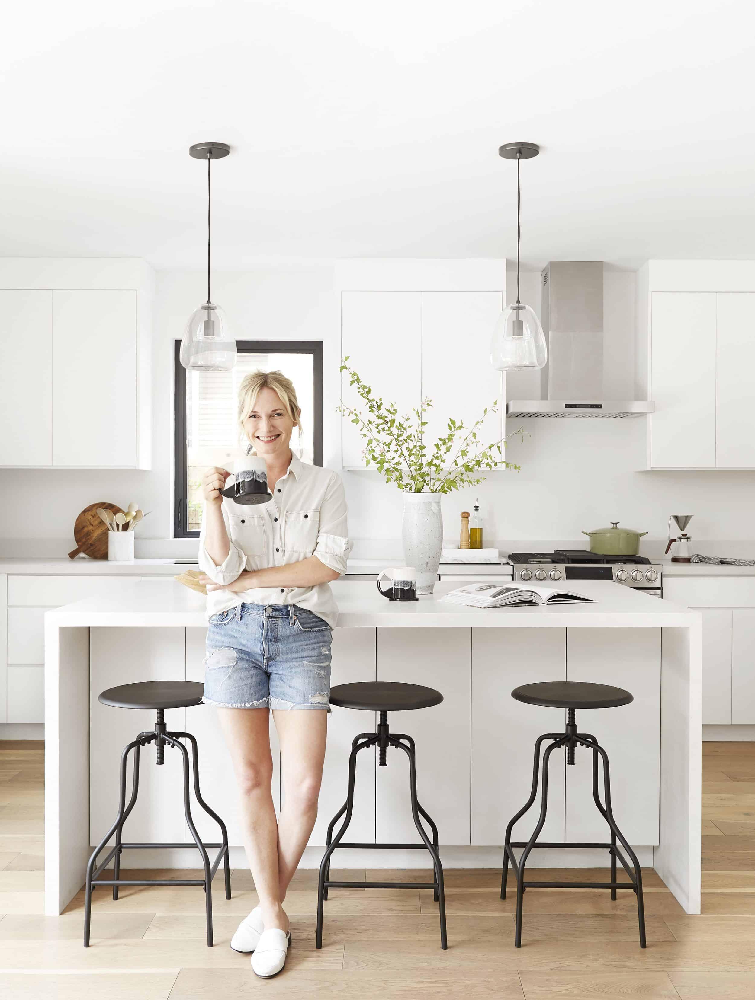 White Modern Kitchen Emily Henderson