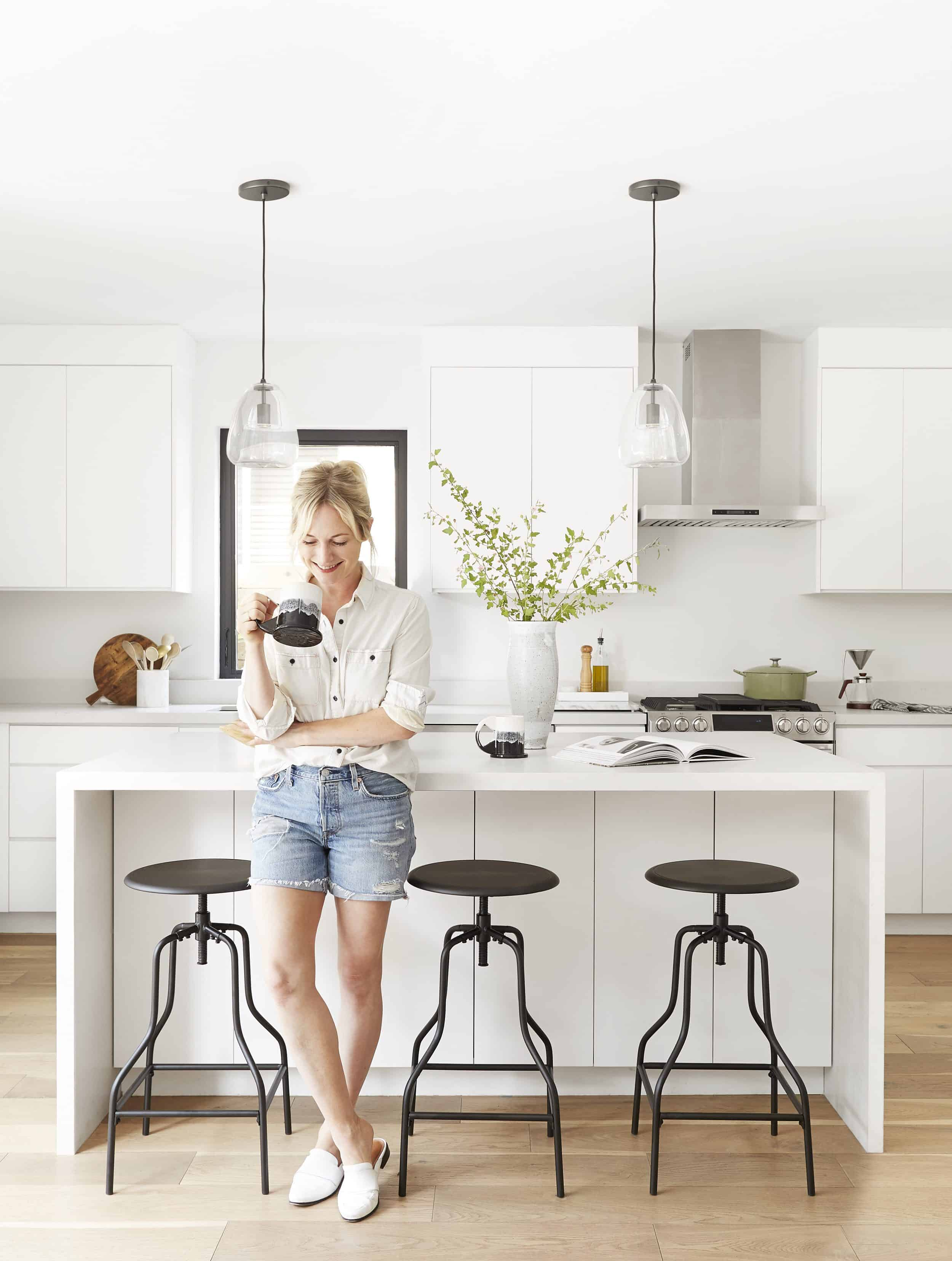 Emily Henderson Modern White Kitchen