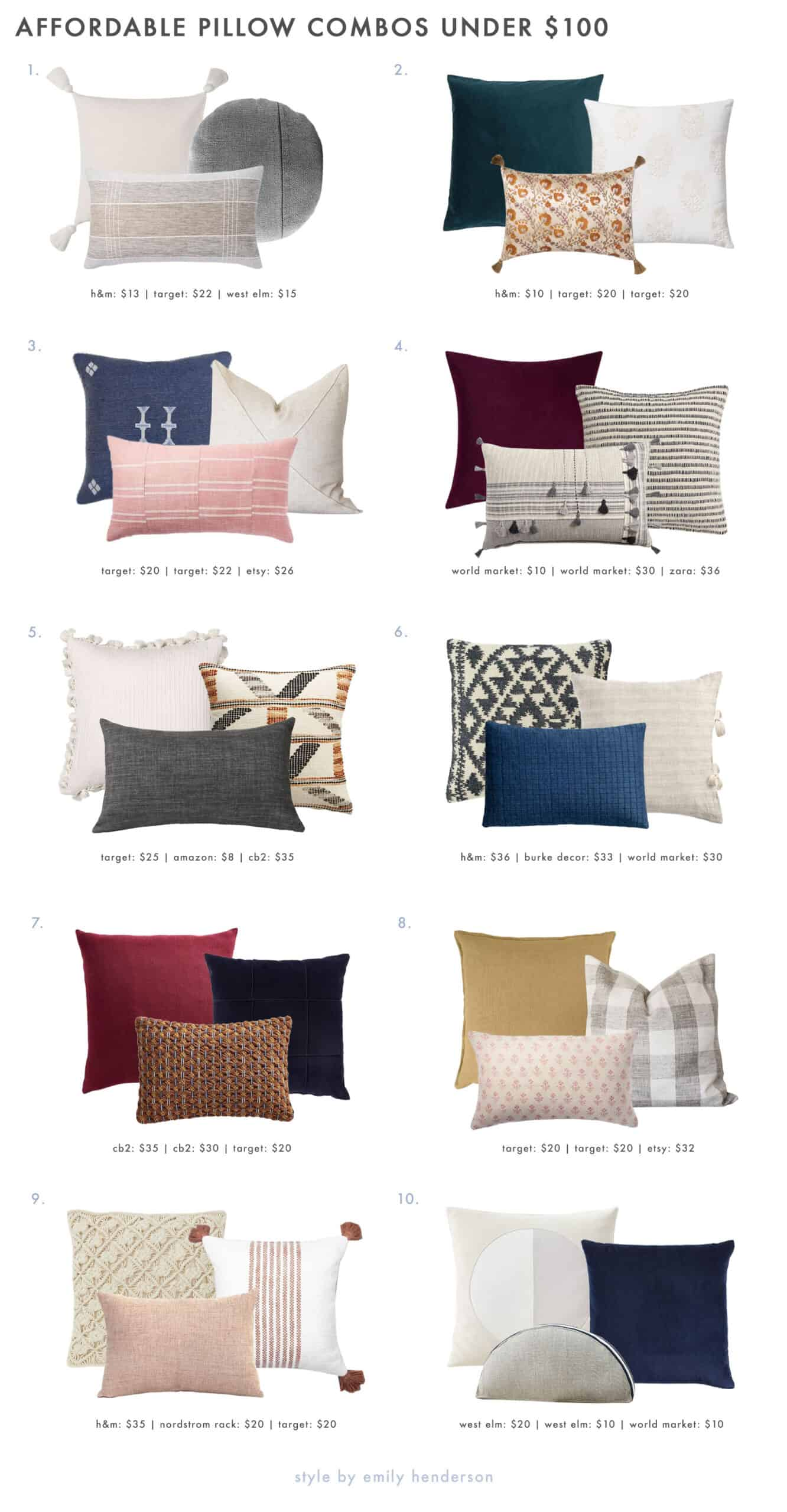 20 very affordable pillow combos our