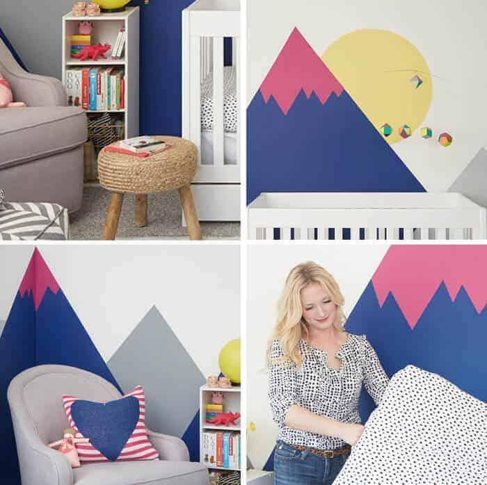 Joy Nursery_Emily Henderson_Wall Landscape Mural_sneak peek
