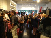 The crowd at Moule's Grand Opening in Yaletown