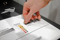 Swatches for testing pH levels