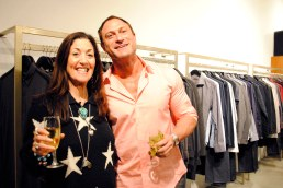 Loyal customer Susan Arum and Moulé owner Michel Gorenstein