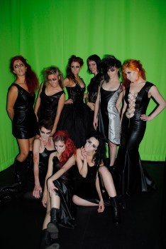 Tanya of Pretty in Punk with her models. HOT!