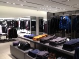 Shopping compartments like closets separate the store