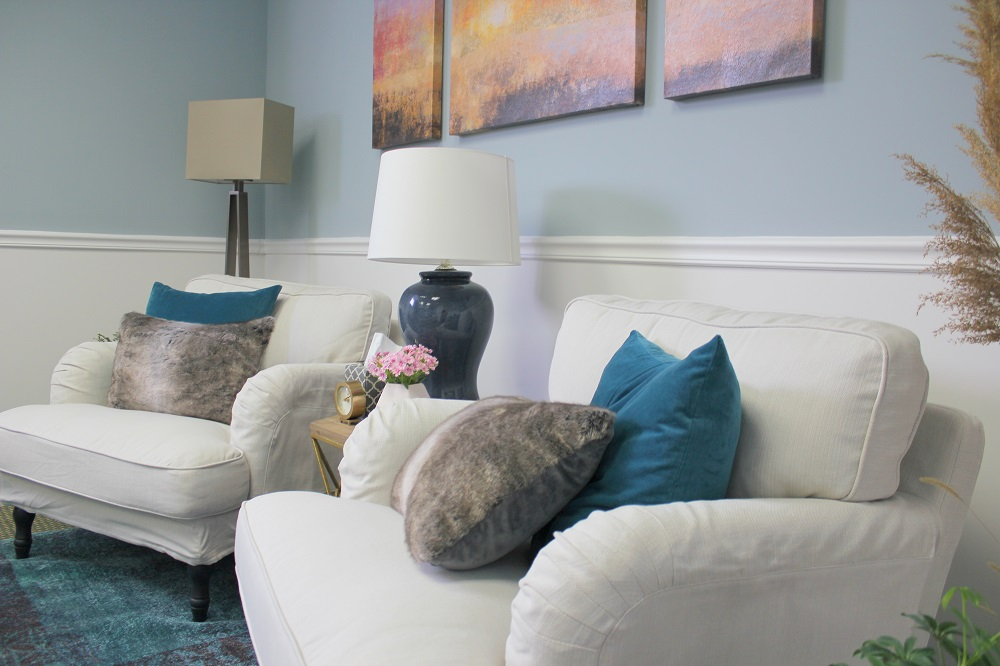 Therapy Office designed by Style by Mimi G, interior decorator servicing NY and NJ