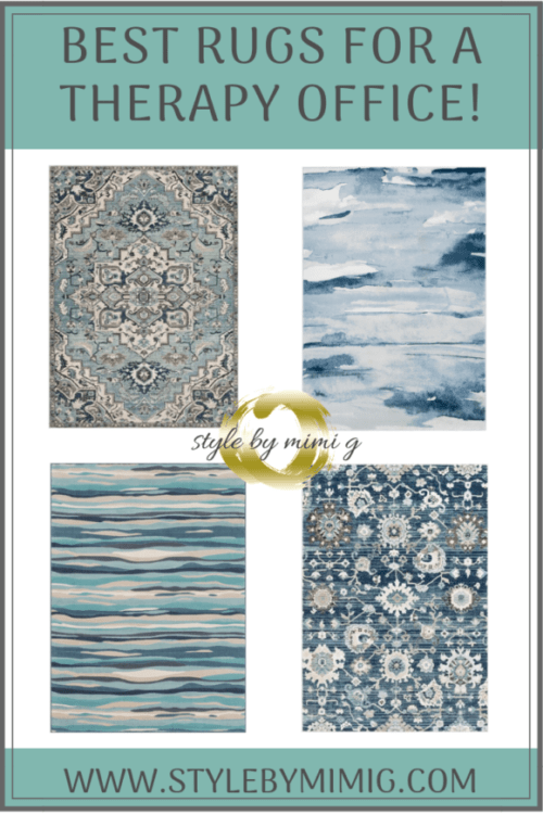 Best Rugs For Designing A Therapy Office! Design by Style by Mimi G, interior decorator servicing NY and NJ