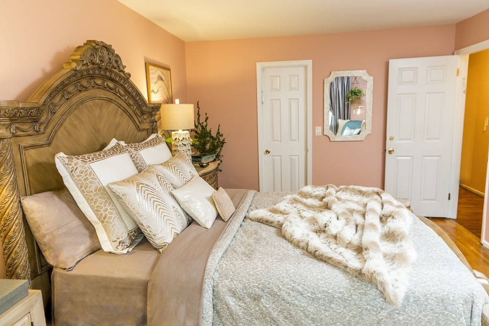 Master Bedroom designed by Style by Mimi G, interior decorator servicing NY and NJ
