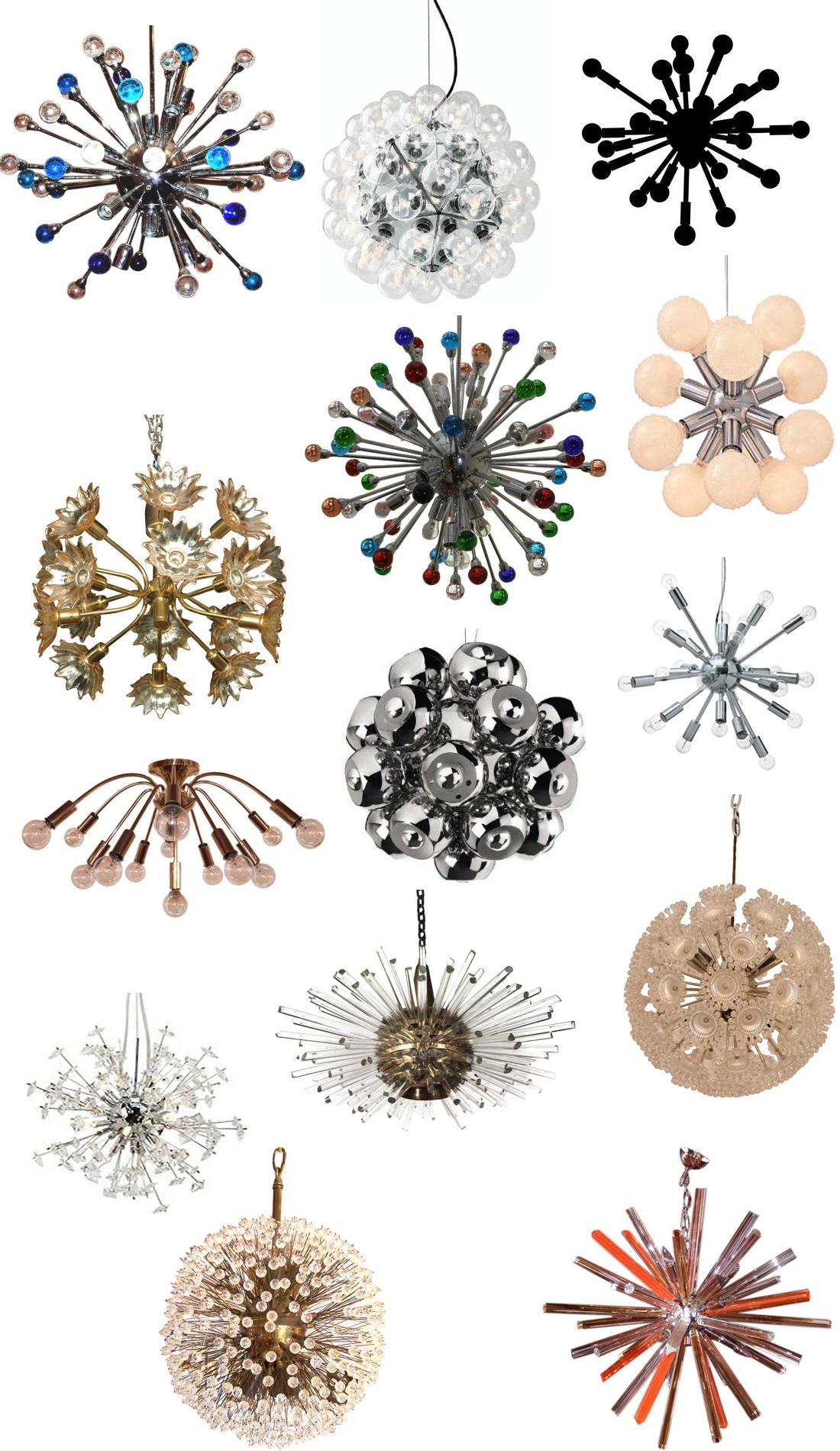 Sputnik christmas ornaments - Get The Look Sputnik Chandeliers