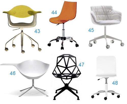 get the look: 48 office chairs that swivel - stylecarrot