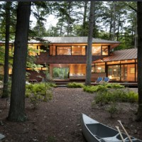 Sleek Cabin on Squam Lake by Tom Murdough