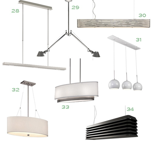 Get The Look Overscale Lighting: Get The Look: 34 Linear Suspension Lights