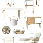 Get the Look: White + Wood Furniture and Accessories