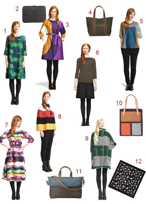 MARIMEKKO DRESS SHIRT COAT BAG WOMENS