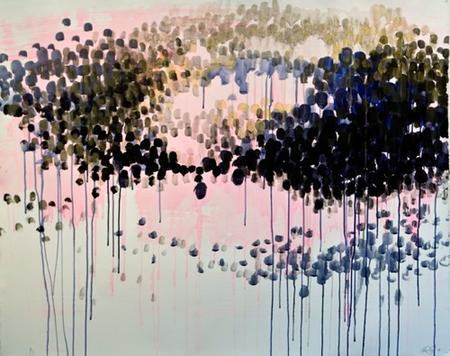 DRIPPY ABSTRACT PAINTING CAROLINE WRIGHT