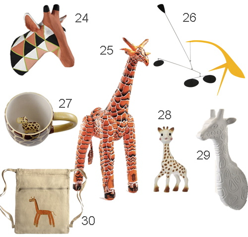 Giraffe Hook Mug Animal Head