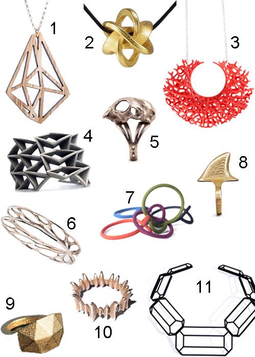 3D Printed Jewelry Modern Designs