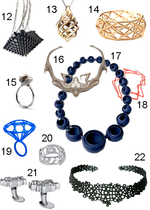 Jewelry Made With 3D Printer