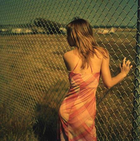 Renee Palone Flynn Girl Against Fence