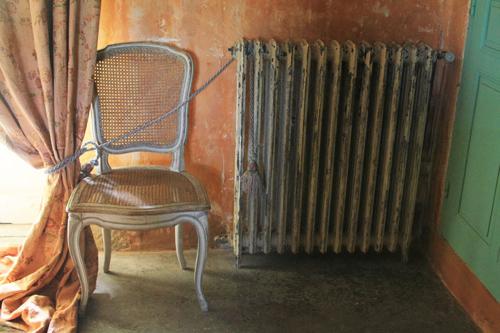 Ranee Palone Flynn Peach Wall Radiator Chair
