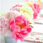 Sunday Bouquet: Pink and Yellow Peonies