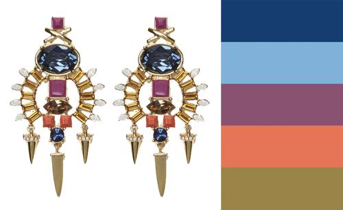 Lizzie Fortunato Jewelry Rhinestone Statement Earrings
