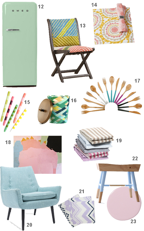 Pastel Furniture Home Accessories Decor