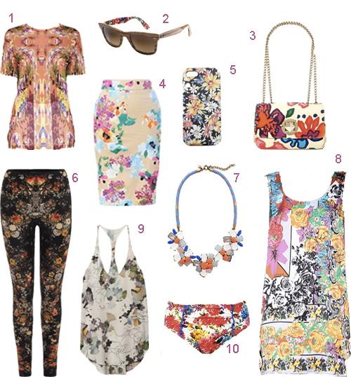 Floral Print Bag Skirt Dress