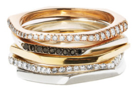 Jessica Biales Rose Gold Slice Rings