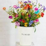 Sunday Bouquet: Bright Blooms in a Pail