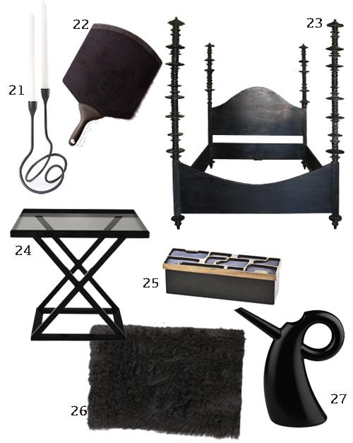 Black Home Furnishings Decor Accessories