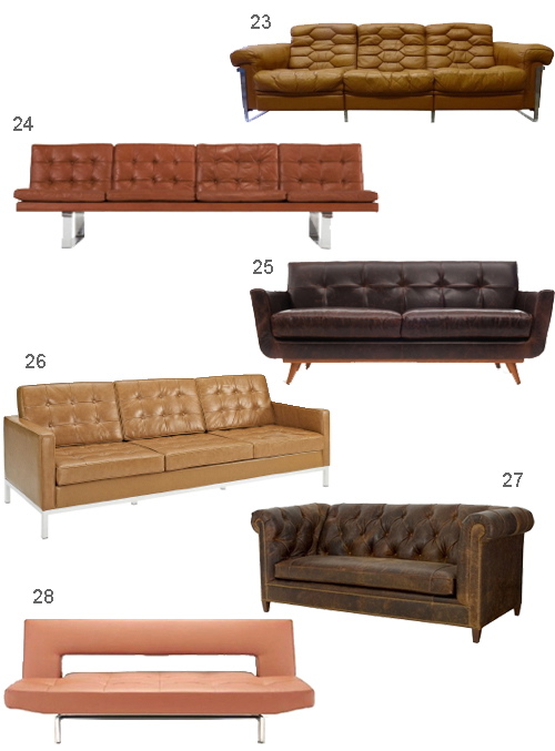 Get The Look 28 Leather Sofas In Cognac Tobacco