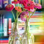 Sunday Bouquet: Zinnias & Books